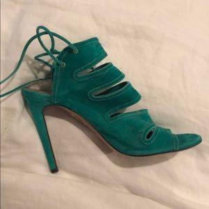 Aquazzura Green Soft Leather Sandals Size 37.5